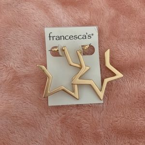Francesca's Collection Gold Star Earrings